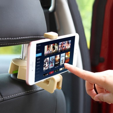 Car Seat Back Headrest Phone Holder ABS Storage Hanger Hook Bag Cloth Holder Organizer Universal