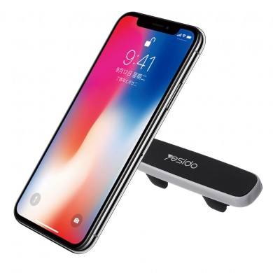 yesido Strip Shape Car Air Vent Magnetic Phone Holder Silica Gel Bracket Stand for iPhone X XS XR