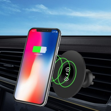 iMars QI 10W Nano Magnetic Car Wireless Fast Charger Air Vent Phone Holder Bracket for iPhone XS