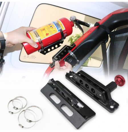 Billet Aluminum Car Trunk Quick-release Fire Extinguisher Fixed Holder Mount Universal for Jeep