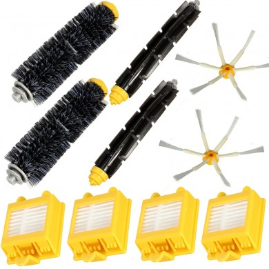 10Pcs Filters Brush Pack Big Kit for iRobot Roomba 700 Series 6 Armed 760 770 780