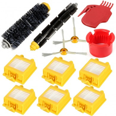 12Pcs Filters Brush Pack Big Kit For iRobot Roomba 700 Series 6 Armed 760 770 780