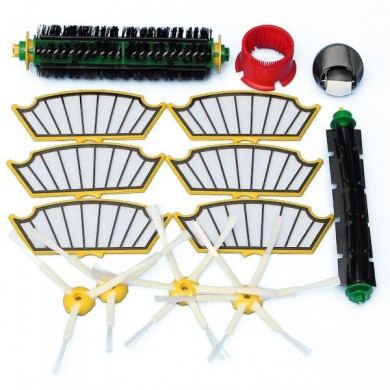 14Pcs Vacuum Cleaner Accessories Kit Filters and Brushes for IRobot Roomba 500 Series 510 530 540 55