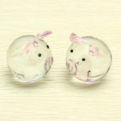 Crystal Glass Couple Pig Cute Pig Ornament Lovers Lucky Pig Gifts