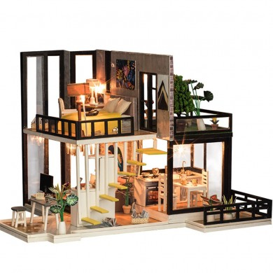 iiecreate K-033 September Fores DIY Doll House With Furniture Light Cover Gift Toy