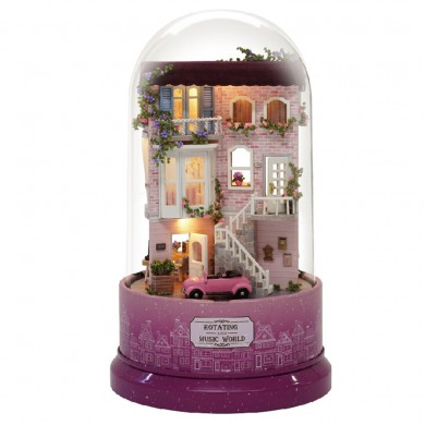 Cuteroom B-031 Encounters Corner DIY Doll House With Furniture Music Light Cover Gift House Toy