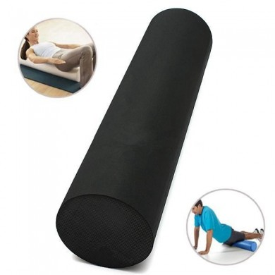 60x15cm EVA Yoga Gym Pilates Home Gym Foam Roller Massage Stretch Band