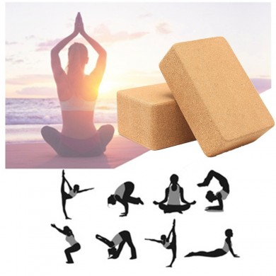 Yoga Cork Block Home Stretch Gym Idoneità Esercizio Pilates Mattone