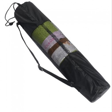 Yoga Mat Bag Fitness Carrier Nylon Mesh Center Strap