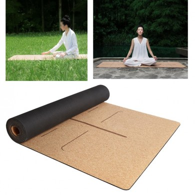 XIAOMI YUNMAI 4mm Natural Rubber Cork Yoga Mats Non-slip Exercise Sports Pilates Yoga Mat