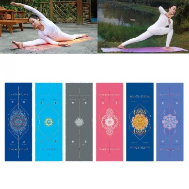 KALOAD Microfiber Yoga Полотенце Double Sides Rhombus Нескользящий Super Sweat Absorbent Антибактериаль
