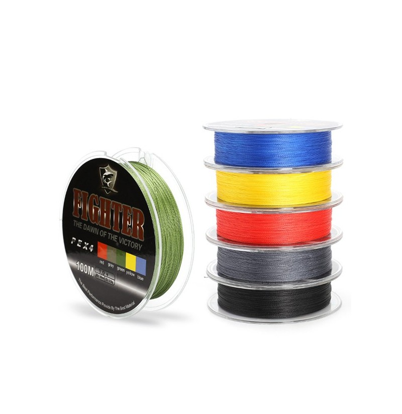 SeaKnight 100M Multifilament PE Braided Fishing Line 4 Stands 8-60LB Fishing Line (Color: Green, Size: 6.0) фото
