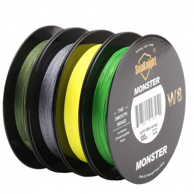 SeaKnight MONSTER W8 150M плетеной лески 8 Пряди Smooth Супер линия PE Multifilament 20-100LB