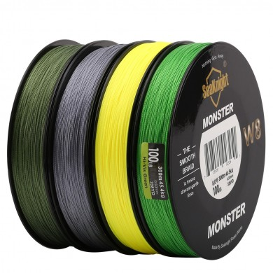 SeaKnight Monster W8 300M 8 Strands Fishing Line Multifilament Fishing PE Line 8 Weaves Strong Line
