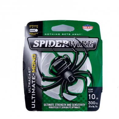 Spiderwire Ultracast 301m Trasparente Nylon TORCIA Wire 4-20LB Ultimate-mono TORCIA Wire