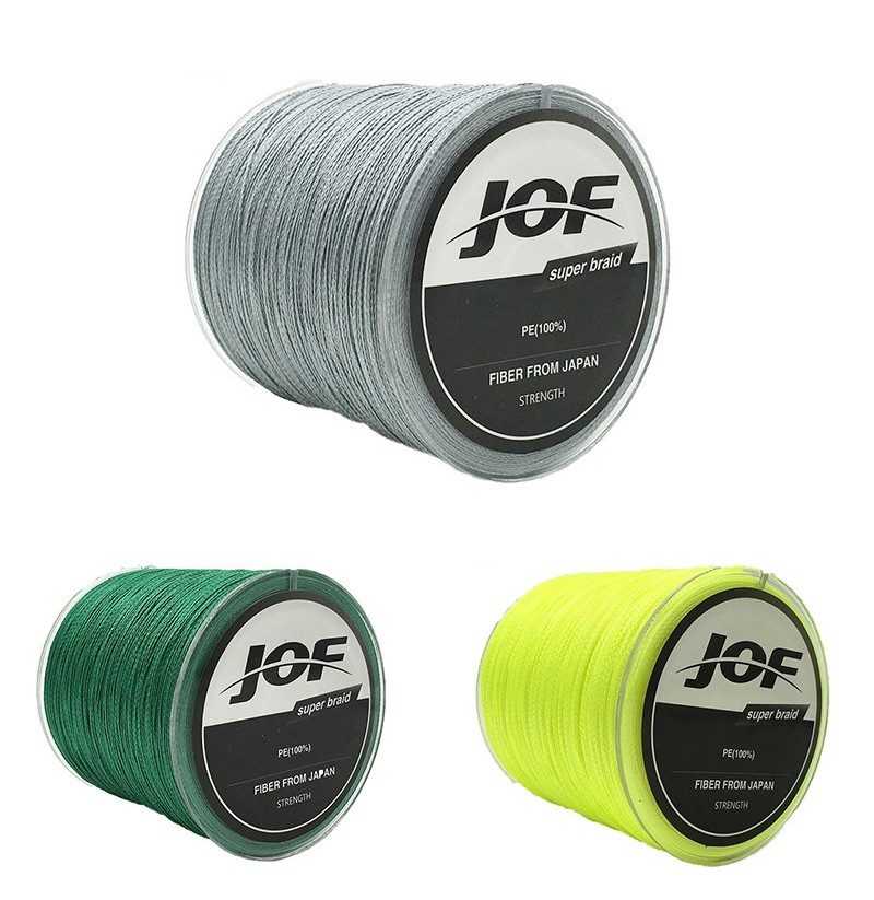 JOF 300M PE Braided 8 Strands 22-61 LB High Sensibility Super Strong Fishing Line Sea Fishing (Color: Grey, Size: 1.0) фото