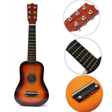 21 Inch Practice Acoustic Ukulele 6 String Mini Guitar Toys For Children