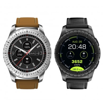 KINGWEARKW281.3inchMTK2502CuoreRate Monitordelsonno Bluetooth Sport Smart Watch per Android iOS