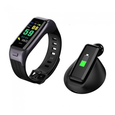 Goral B03 Bluetooth Earphone Call Music Player Heart Rate Pedometer Sleep Sport Smart Bracelet