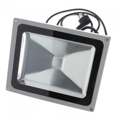 30W 2700-3000LM Waterproof RGB Color RC LED Flood Light 85-265V