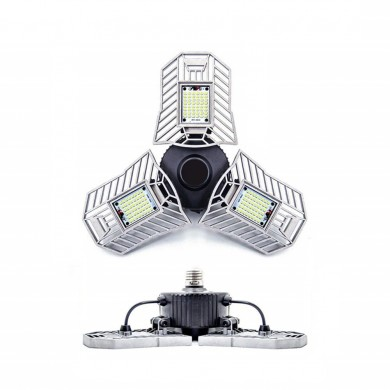 High Power E27 60W 144 LED Adjustable Industrial Flood Light 6000lm for Garage Warehouse AC220V
