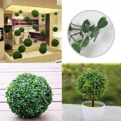 Plastic Artificial Topiary Ball Tree Decoration Plant