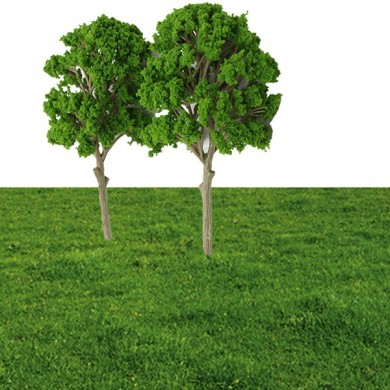5pcs Micro Landscape Trees Potted Plant Garden Decor