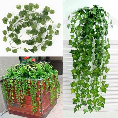 2m Artificial Ivy Sweet Potato Green Leaves Garland Home Garden Decoration