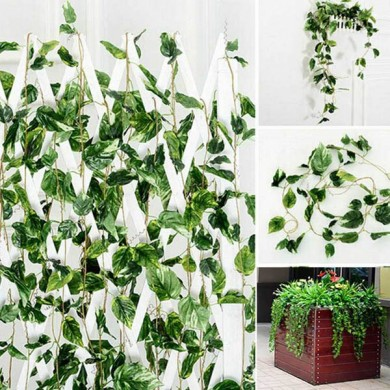 2m Artificial Ivy Vine Plant Green Leaves Garland Home Garden Holiday Decoration