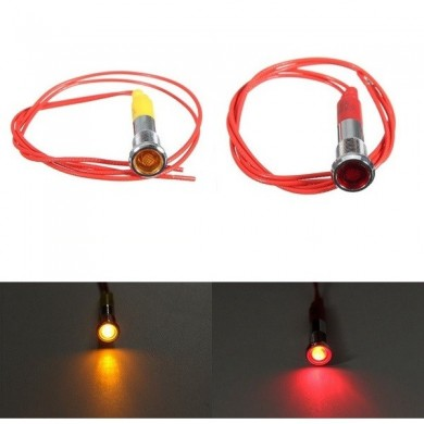 0.34W 12V Dashboard LED Indicator Pilot Instrument Light Panel Lamp for Car SUV