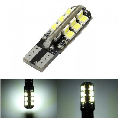 T10 3528 24SMD LED W5W White LED Car Instrument Side Width Light Bulb Lamp