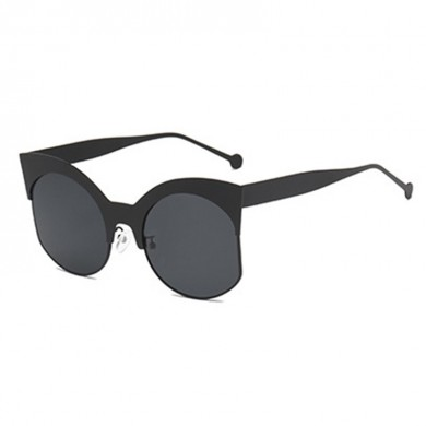 Women Men Outdoor Metal Half Frame Sunglasses
