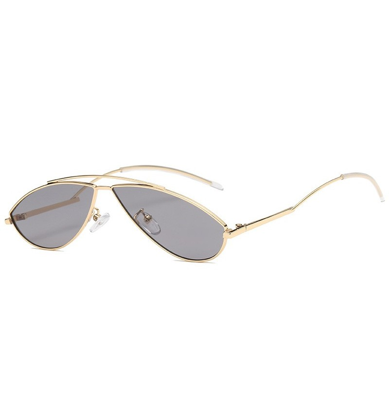 Women Men Outdoor Retro Trend Street Sunglasses (Color: Silver) фото