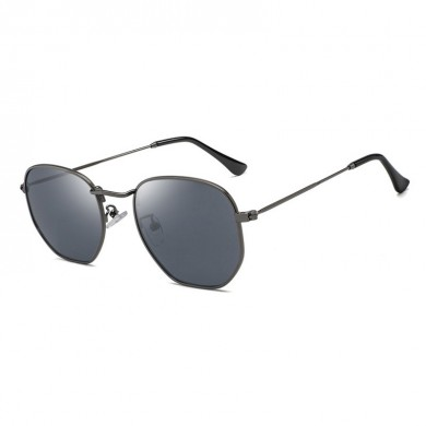 Women Vintage Mirrored UV400 Round Polarized Sunglasses