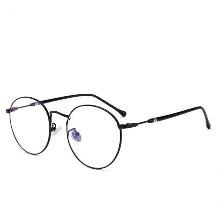 Women Men Round Metal Optical Reading Glasses