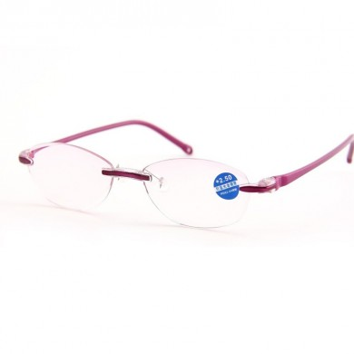 Women Men Frameless Blue Light Blocking Glasses
