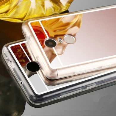 Luxury Mirror Surface Plating Soft TPU  Protection Case For Xiaomi Redmi Note 4