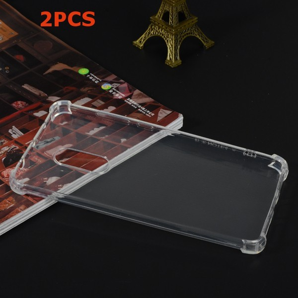 2PCS Thick Corners Airbag Drop-resistance TPU Soft Transparent Back Case For Xiaomi Redmi Note 4