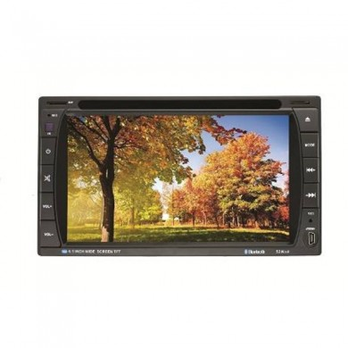F6016 6.2 inch 2 DIN Car DVD Stereo MP3 Player Bluetooth Touch TFT Screen AUX IN SD MMC Card Readers Universal