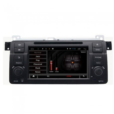 SA-710 carro dvd aux mp3 mp4 fm na tela de toque capacitivo android para BMW 3 séries e46