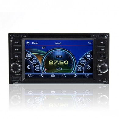 Duplo 2 Din 6,95 polegadas Stereo Car DVD CD Player Rádio Bluetooth iPod SD / USB TV