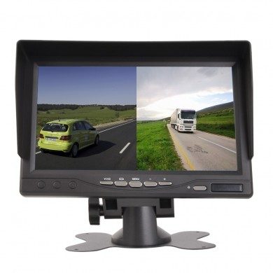 7 Inch AHD Split IPS Monitor Truck Reversing Image Display Car Camera