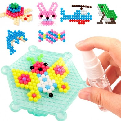 Water Spray Magic Beads DIY Kit 10 cores Ball Puzzle Game Diversão Toy brinquedo de desenvolvimento