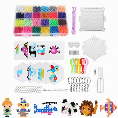 Water Spray Magic Beads DIY Kit 24 Colors 3000pcs Ball Puzzle Game Fun Developmental Toy Gift