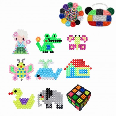 3000pcs Bear Head/Plum DIY Fuse Beads Water Beads Sticky Beads Art Craft Toys Kids