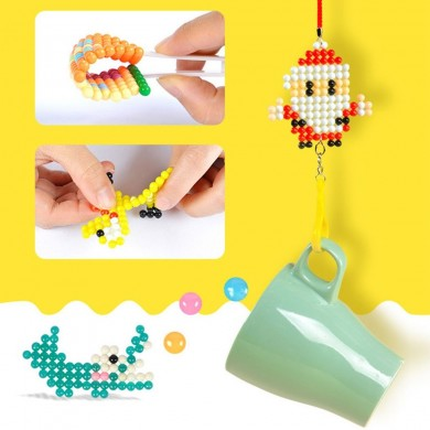 Fuse Beads Refill Magic Sticky Water Beads Art Crafts Toys for Kids Beginners Jigsaw Puzzle Toy