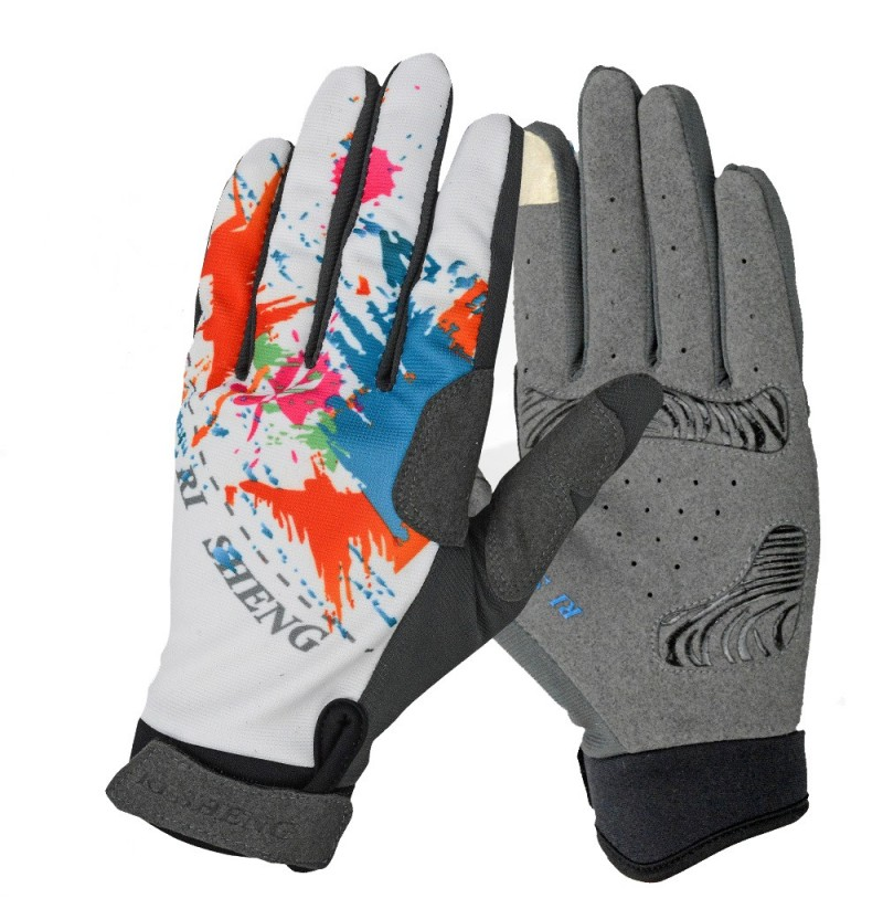 Cycling Bike Bicycle Gloves Riding Touch Screen Gloves Full Fingers Gloves (Color: Orange, Size: S) фото