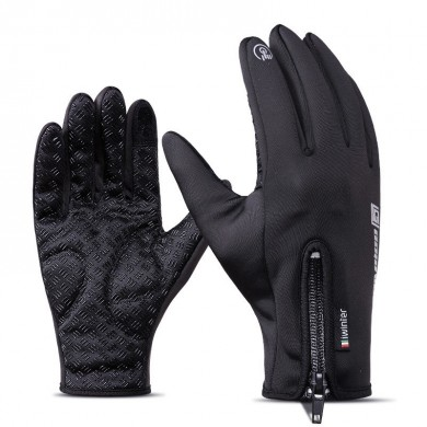 Iwinter Touch Screen antivento impermeabile in pile Warm Winter Cycling Guanti