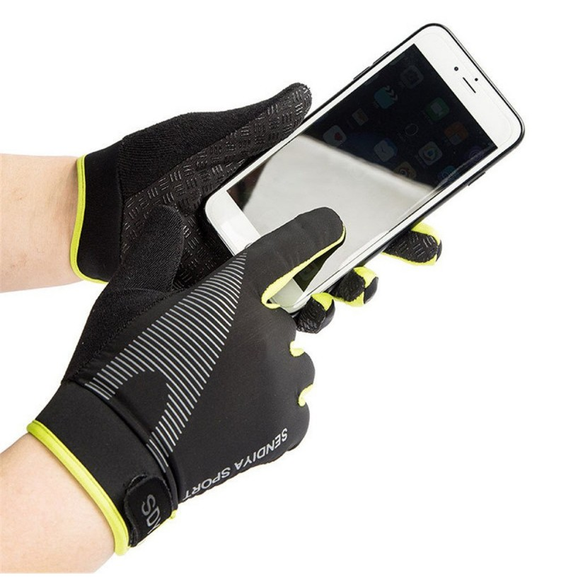 BIKIGHT Bike Bicycle Gloves Full Finger Touch Screen Cycling Outdoor Sports Long Gloves For Men Women (Color: Red, Size: XL) фото