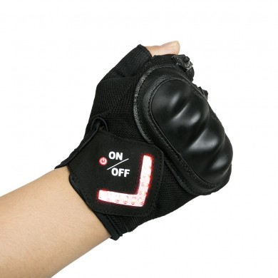 BIKIGHT Outdoor Half Finger Bike Gloves Bicycle Cycling Outfit With Intelligent LED Turn Warning Light